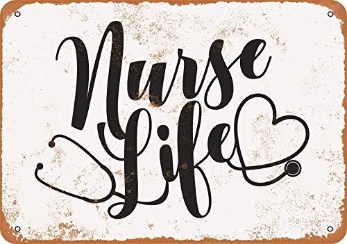 Yousigns Nurse Life 2 Metal Tin Sign 12 X 8 Inches Retro Vintage Decor