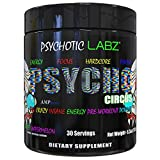 Psychotic Labz Psycho Circus High Stim Pre Workout Powder, Energy Focus Strength Pumps, Loaded with Beta Alanine Creatine Caffeine Ampiberry Dmae Bitartrate, 30 Srvgs, Sweet Watermelon