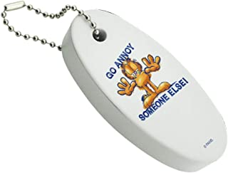 Graphics and More Garfield Go Annoy Someone Else Floating Keychain Oval Foam Fishing Boat Buoy Key Float