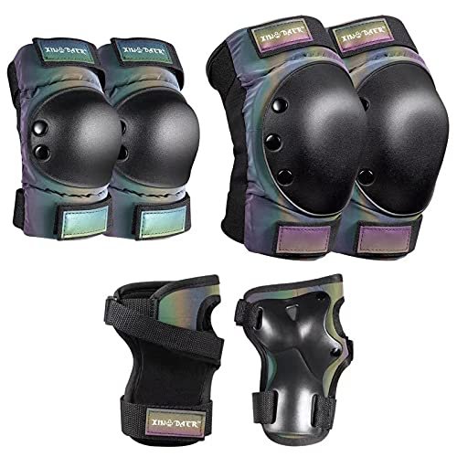 XINDAER Kids Youth & Adults Knee Pad Elbow Pads, Saverseries Pad Set with Kneesavers, Elbowsavers and Wristsavers for Skateboard, Roller Skate, Inline, Cycling, Scooter Protective Gear Sets (Medium)
