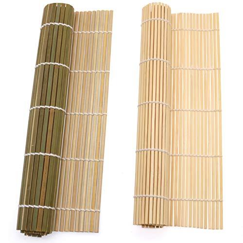 kit per sushi Bambu\' Rotolo Pad Mat 2x Mats , tappetini per Sushi,Gadget di Sushi Fatto in Casa per Gli Amanti del Cibo,Strumenti per la Preparazione del Sushi