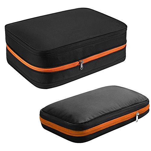 Wimaha 2pcs Packing Cubes Suitcase Organiser Luggage Packing Organiser Value Set for Travel(Orange)