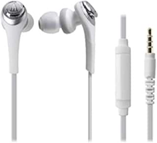 Audio Technica SOLID BASS for Smartphone Inner Ear Headphones White ATH-CKS550iS WH