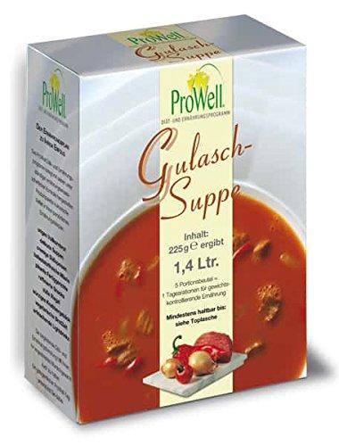 ProWell Diät- und Ernährungsprogramm - Gulaschsuppe - 225 g (5 Portionen)