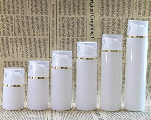 JSJJAUJ Kosmetikbehälterflasche 100ml 150ml Leere Airless Pumpe Flaschen Gold Linie Lotion Vakuum Kosmetische Container Frauen Make-up Reiseflasche Maquiagem 10 stücke