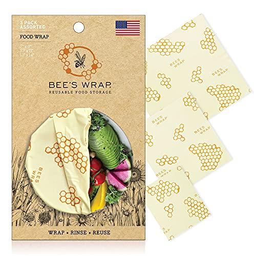 Bee's Wrap Lot de 3 emballages Alimentaires Tailles Assorties Beige