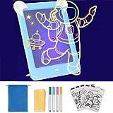 GOLDGE Led Zaubertafel Kinder Zeichentafel Maltafel Beleuchtend Magic Zeichentafel Set Maltafel...