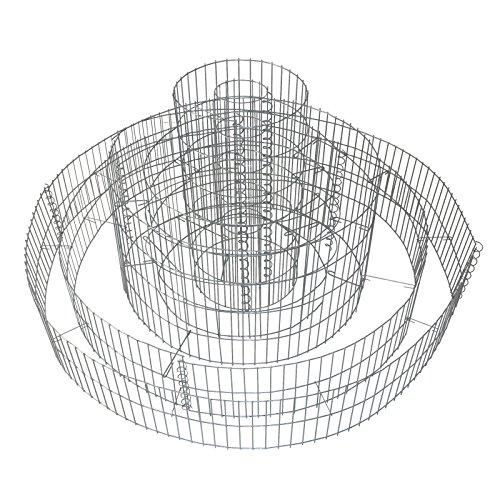 Gabione 3-fach-Ring 20x120/40x70/60x30 cm