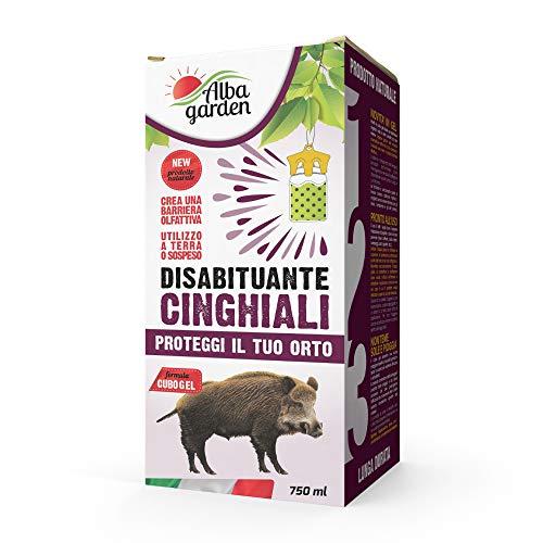 Albagarden - Disabituante Repellente BARRIERA CINGHIALI dissuasore 100% naturale animali selvatici istrici help gel - No Recinzioni - x 750 ml