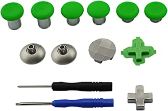 Replaceable 11-in-1 Metal Magnetic Thumbsticks Analog Sticks Joysticks for Nintendo Switch PS4 Xbox One Elite Controller with Screwdrivers(11-in-1 Green)