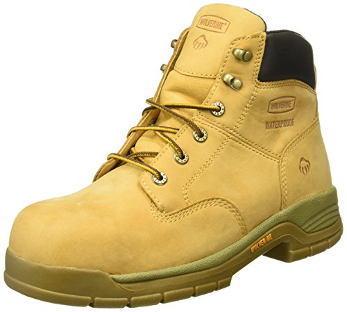 Wolverine Men's Harrison Waterproof Lace-Up Steel-Toe EH 6' Work Boot (11 M in Wheat)