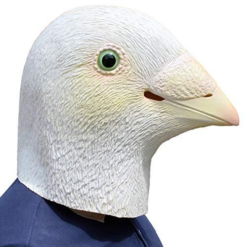 Holibanna máscara de Paloma Disfraz de Fiesta de Halloween máscara de Cabeza de Animal de látex de pájaro de Paloma