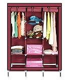 Smart Saver 8 Shelf Closet Storage Organizer Wardrobe Portable Shelves (Wine)