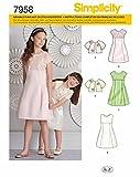 Simplicity 7958.K5 Schnittmuster Kleider (Kinder Mädchen, Gr. 127   155)