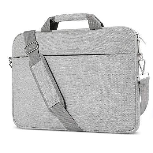 AtailorBird Laptophülle, Laptoptasche 15-15,6 Zoll mit SchulterriemenundGepäckgurt,15,6 Zoll Tragbar Notebooktasche kompatibel PC Laptop Schutztasche Asus Dell Fujitsu Lenovo HP Toshiba (Grau)