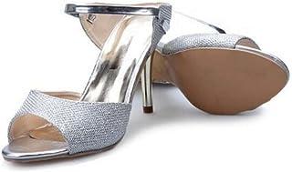 Girllike Women's Fashion Slide Sandals Stiletto High Heel Peep Toe Summer Shoes