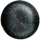 Gym Cuenco de Ceramica Platos cerámicos bandejas de Placas de 8,5 Pulgadas nórdica Creativa Wujin Moyu en Relieve Placas Platos de Carne Occidentales (Color : Black, Size : 22 * 22 * 5.5CM)