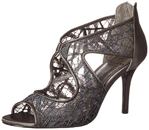 Adrianna Papell Women's Arissa Pump, Gunmetal Chagall lace, 10 M US