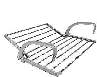LDYJ - Tendedero para balcón, barandilla de Ventana, radiador de radiador, Estructura Seca, Estructura para Ventanas