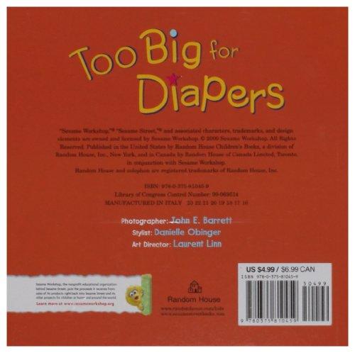 Too Big for Diapers (Sesame Street) (Sesame Steps)