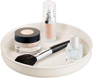 طاولة تخزين من ام ديزاين لأزياء الحمام، 9 سم دائرية, بلاستيك, كريمي, Pack of 1