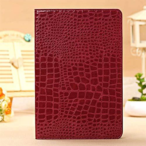 RZL Pad y Tab Fundas para iPad Air 2 Air2, Cocodrilo de Lujo PU de Cuero de PU Folio Funda de Lujo Flip Funda para iPad Air 2 A1566 A1567 9.7 '' (Color : Red)