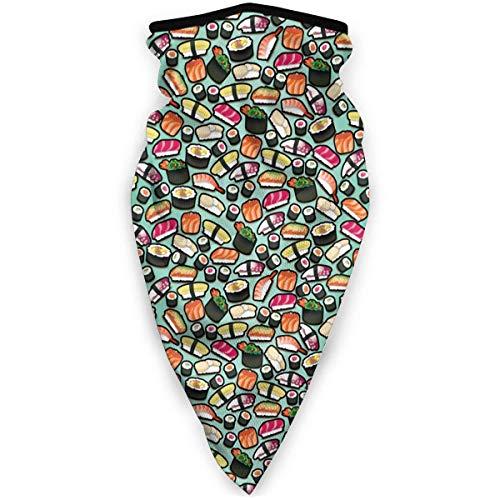 July schattige Japanse beste sushi zwart groen rijst windbreak sjaal gezichtsmasker wasbaar stofmasker bivakmuts bandana