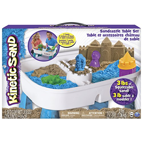 Kinetic Sand 6031658 - zandspeeltafel, voor binnen met 1,3 kg Kinetic zand
