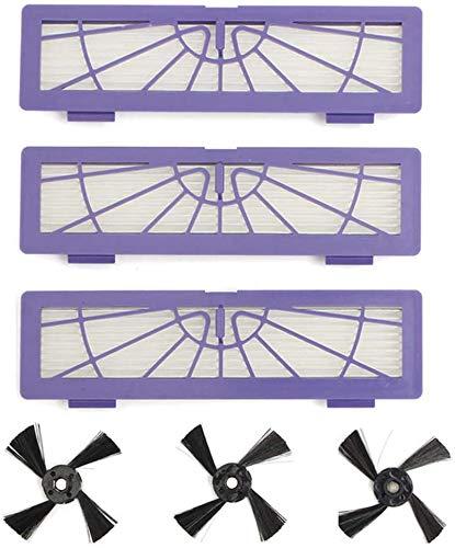 Henseek Kit de brosses latérales de rechange pour aspirateur Neato Botvac 70E 75 80 85 D75 D85