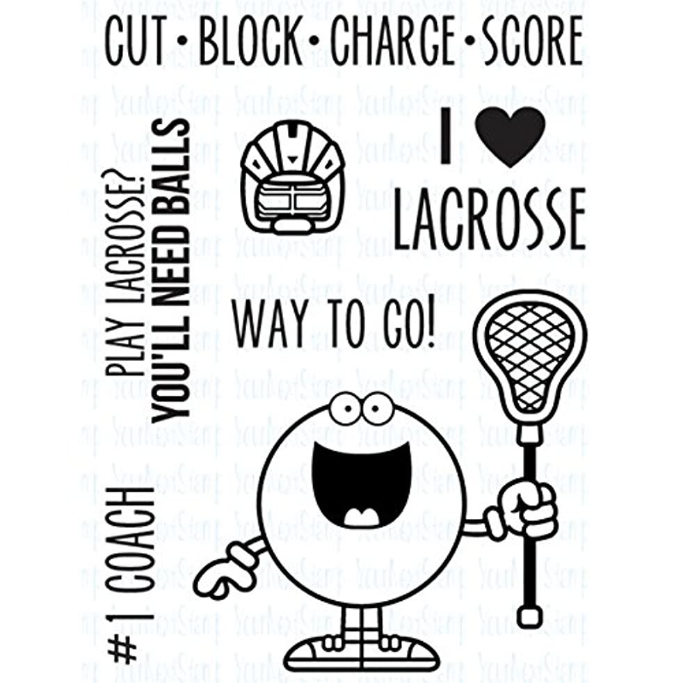 Your Next Stamp Clear Stamps 3x4-Sports Fanatics Lacrosse