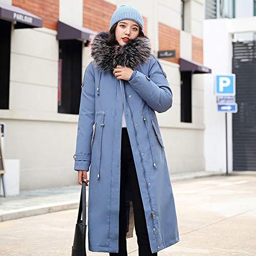 GDRFHJZ winterjas dames casual met grote bontkraag winterkousen van katoen parka outwear dames hooded dikke warme mantel