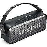 W-KING 60W Loud Bluetooth Speaker, IPX6 Waterproof Outdoor Bluetooth Speaker with 8000mAh Power Bank, Deep Bass Portable Speaker Support 24H Playtime, 5.0 Bluetooth, EQ, AUX, TF Card