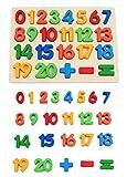 KanCai Puzzle di Legno Bambini Puzzle dei Numeri 1-20 Gioco per Enfants Puzzles Éducation précoce Jouets