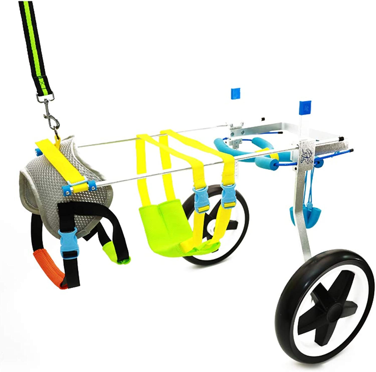 AnnCWLY Pet Wheelchair, Hind Legs, Length, Width and Height can be Adjusted for Rehabilitation Training Dog Special Auxiliary Scooter, Weight 150KG Wear (Size   L)