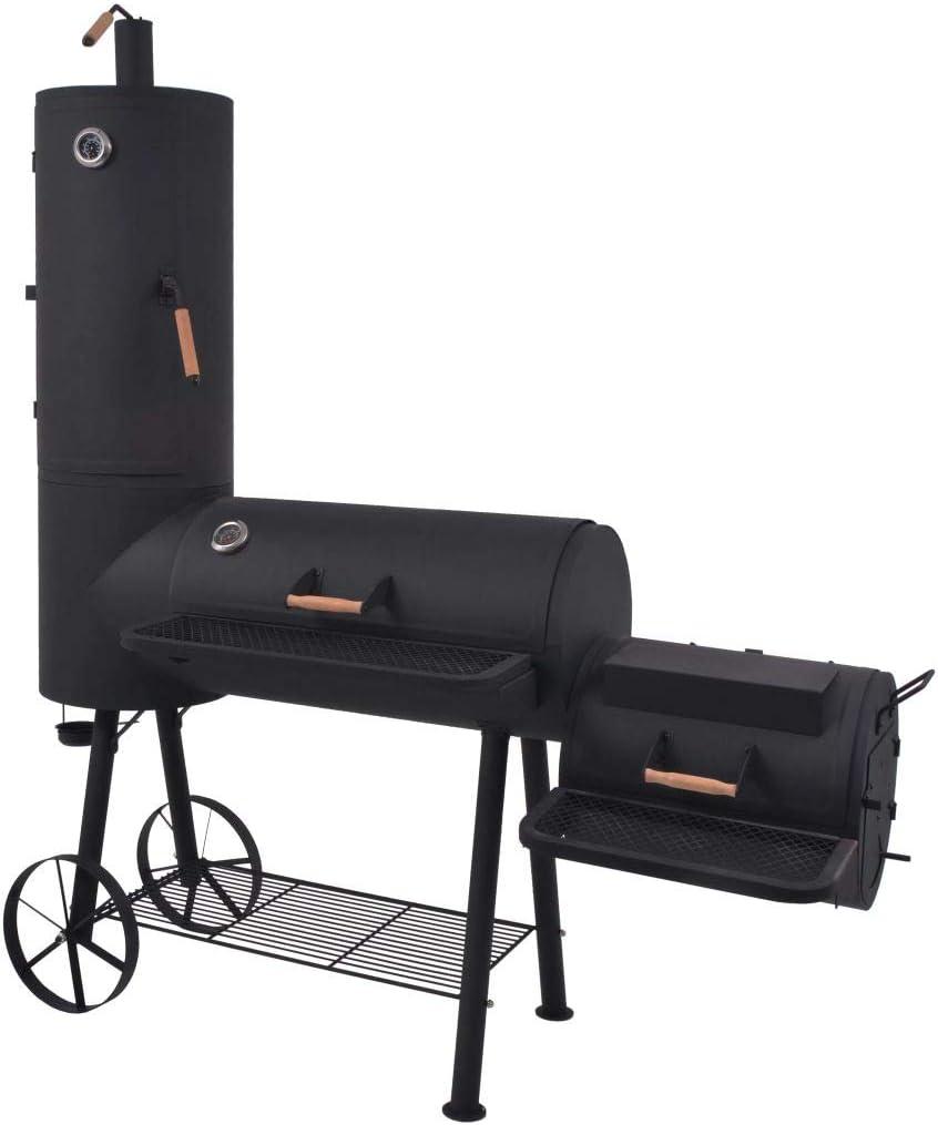 5 popular FAMIROSA BBQ Charcoal Smoker with Shelf Bottom XXL Black Heavy Many popular brands