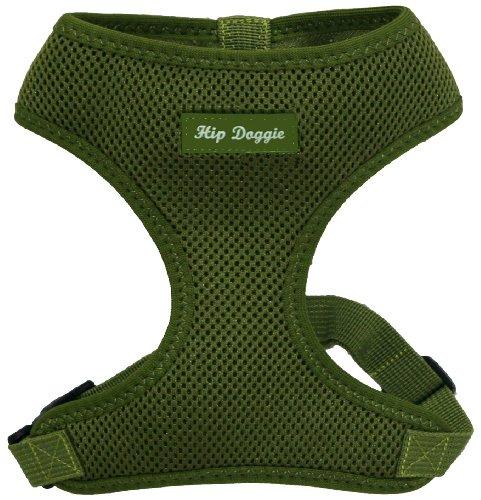 Hip Doggie HD-6PMHGR Ultra Comfort Harness Vest hondenharnas, XXL, olijfgroen