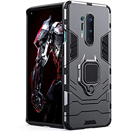 ValueActive Back Cover for OnePlus 8 Pro Case Back Cover Rugged Armor TPU + PC Hybrid Kickstand Back Case/Cover with Ring Holder Designed for OnePlus 8 Pro/One Plus 8 Pro/1+8 Pro