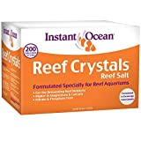 Instant Ocean Reef Crystals Reef Salt for 200 Gallons, Enriched Formulation for Aquariums
