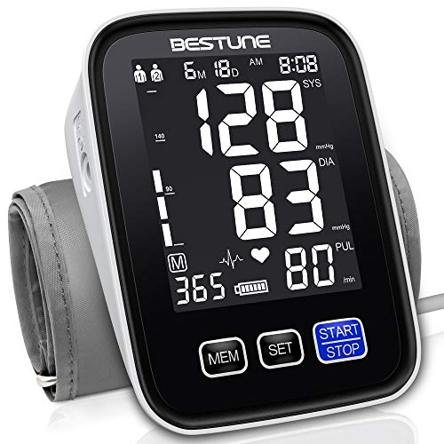 Blood Pressure Monitor-Automatic Accurate Upper Arm BP Machine,Digital Blood Pressure Cuffs for Home use with Extra Large Cuff,Large Backlit Display,2 Users 1000 Readings