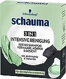 Schauma Festes Shampoo für Haare, Körper & Gesicht 3in1 Intensive Reinigung, 60 g, S60I1