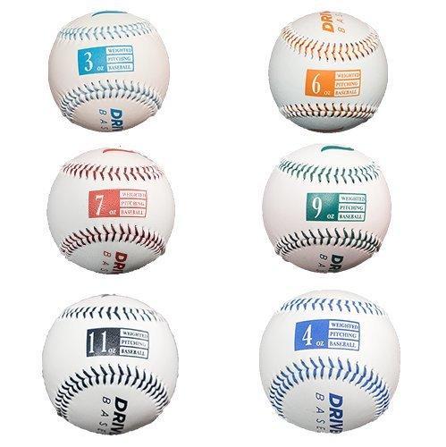 DrivelineレザーWeighted Baseballs 6球セット