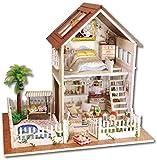 Alivisa Miniatura 3D Juegos de muñecas de Madera de la Mano de Bricolaje - Paris Apartamento de muñecas, Juguetes y artesanías para niños Adolescentes, Regalo de X'Mas