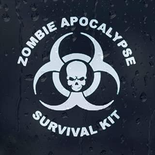 Zombie Apocalypse Survival Kit Vinyl Decal (External Fitting)