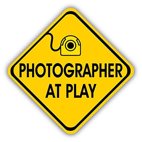 Tamengi Fotograaf Op Speel Gebaren Auto Bumper Sticker Decal 5