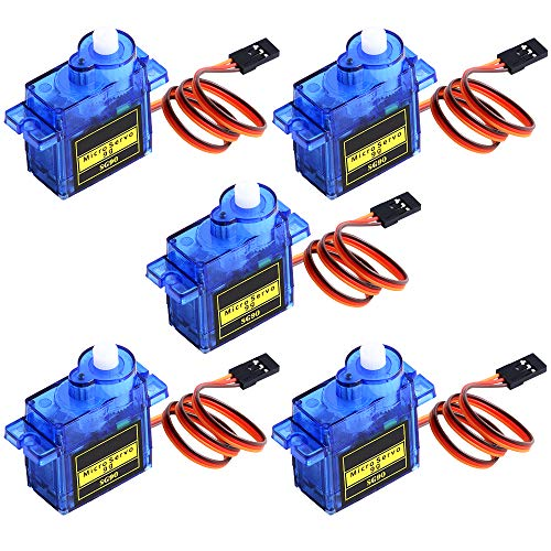 owootecc 5PCS SG90 9G Micro Servo Motor for RC Robot Car Helicopter Airplane Arm Boat Remote Controls