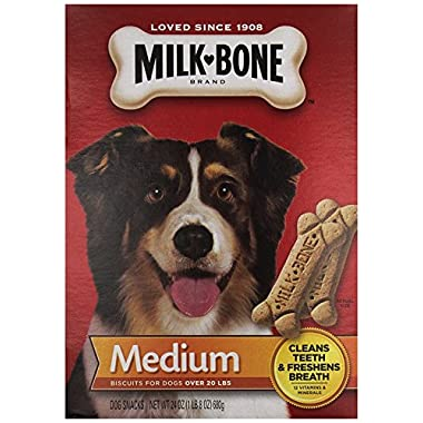 Milk-Bone 3 Pack Medium Biscuits For Dogs Over 20 Lbs (24 ounce)