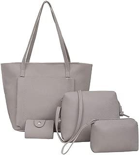 Viyado Four Set Handbag Shoulder Bags Four Pieces Tote Wallet Women Leather Handbags