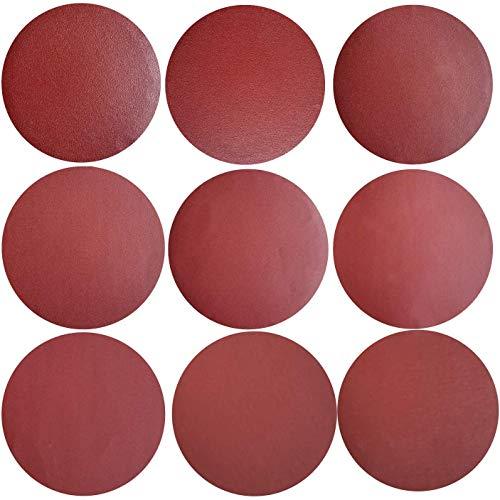 Sackorange 30 PCS 10-Inch NO-Hole PSA Aluminum Oxide Sanding Disc, Self Stick(3 Each of 120 180 240 320 400 600 800 1000 1500 2000)