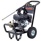 工進(KOSHIN) エンジン式 高圧 洗浄機 14MPa 車輪付タイプ JCE-1408UDX 自吸 水道直結 農機具 強力 洗浄 ブラック