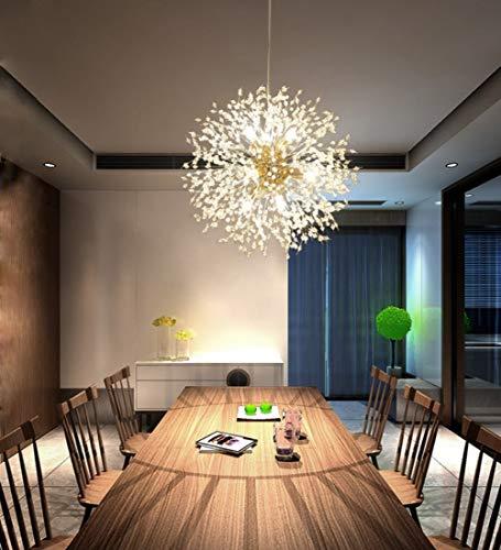Dellemade Sputnik Kronleuchter 8-Licht Golden Luxuriöse Pendelleuchte für Schlafzimmer, Wohnzimmer, Esszimmer - 4